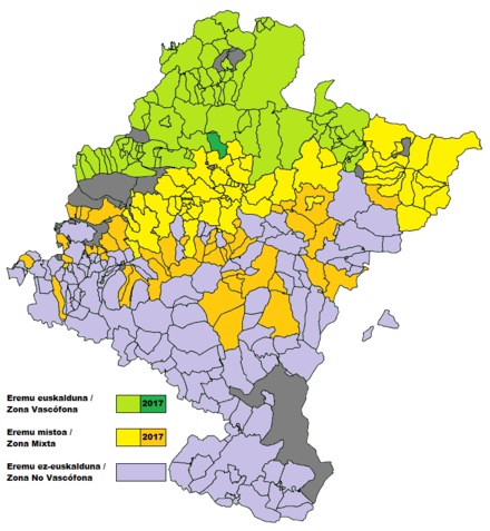 Official status of the Basque language in Navarre Navarra - Zonificacion linguistica.png