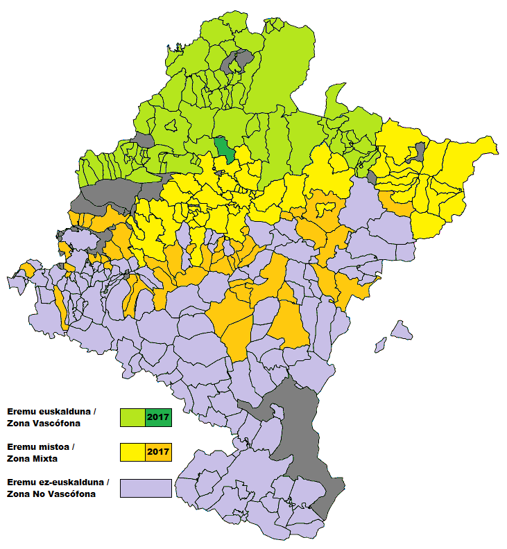 Navarra - Zonificacion linguistica