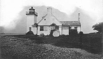 Barrington, Rhode Island - Nayatt Point Lighthouse, ca. late 1800s