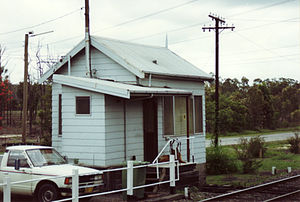 South Maitland Railway - Neath Signal box, Feb 1995