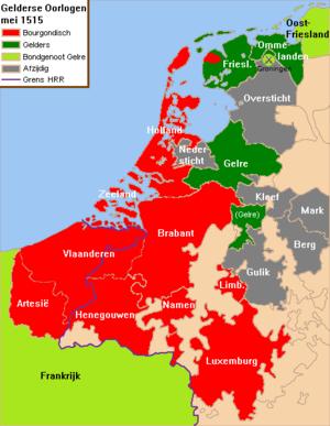 Guelders Wars - Image: Nederlanden 1515