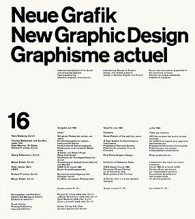 <i>Neue Grafik</i> Defunct quarterly graphic design journal