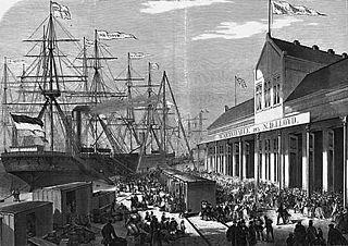 Neue Wartehalle des NDL - Bremerhaven - 1871.jpg