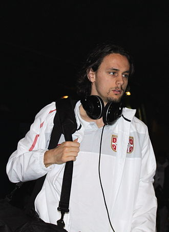 Neven Subotić - Subotić with Serbia in 2010