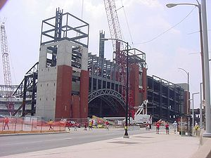 Busch Stadium - Busch Stadium under construction