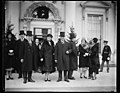 New Years Day at the White House. Mr. Gann, Mrs. Gann (sister of the vice president) and Vice President Curtis, as they left the New Year's reception at the White House LCCN2016889563.jpg