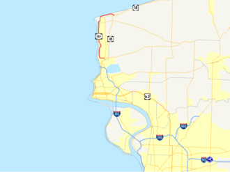 New York State Route 18F - Image: New York Route 18F map