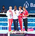 Nicola Adams at the awarding ceremony of the 2015 European Games 2.jpg
