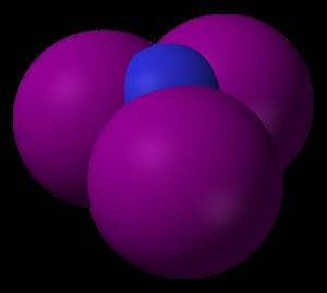 Nitrogen triiodide - Image: Nitrogen triiodide 3D vd W