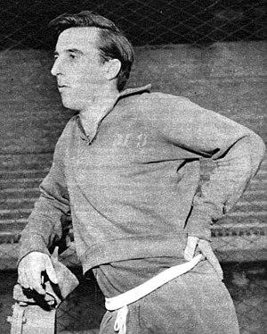Norberto Menéndez - Menéndez during a training section with Boca Juniors