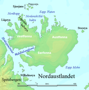 Sjuøyane - Area map