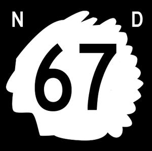 Bowman County, North Dakota - Image: North Dakota 67