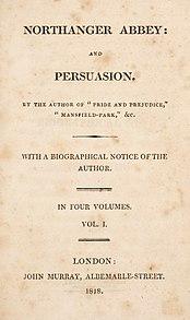 <i>Persuasion</i> (novel) Novel by Jane Austen