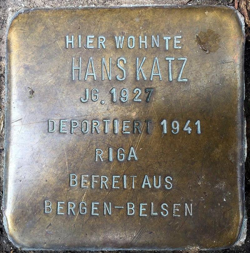 Northeim Stolperstein Hans Katz.jpg