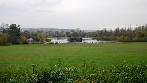 Northern Fields and Lake, Saltwell Park - geograph.org.uk - 1581541