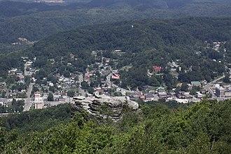 Norton, Virginia - A view overlooking Norton, Virginia at Flag Rock