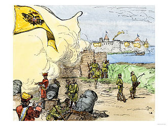 Siege of Nöteborg (1702) - A later illustration of the siege