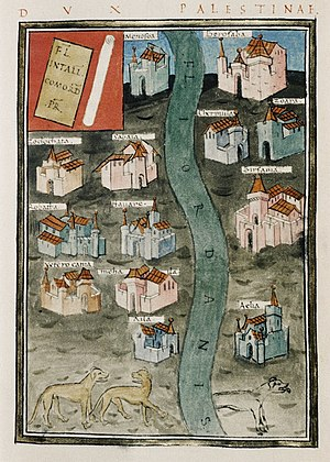 Notitia Dignitatum - Palestine and the River Jordan, from the  Notitia Dignitatum
