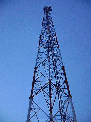 Cell phone tower in Nyakrom, Agona District (e...