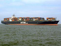 Nyk Aphrodite p2 approaching Port of Rotterdam, Holland 09-Apr-2007.jpg