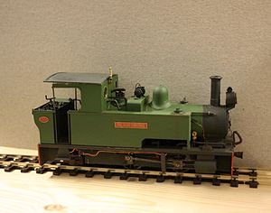 On30 gauge - British O16.5 gauge model based on a Bagnall 0-4-2T design.