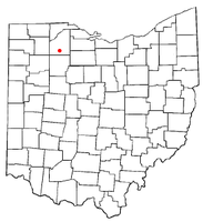 Location of Cygnet, Ohio