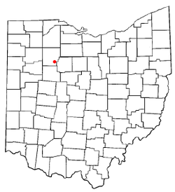 Location of Mount Blanchard, Ohio