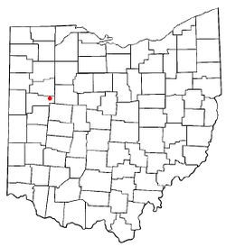 Location of Waynesfield, Ohio