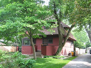 Robert P. Parker House - The polygonal dormers on the Parker House are featured in all of the bootleg houses that survive.