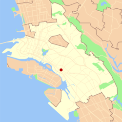 Location of Fruitvale in Oakland