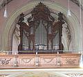 Oberalteich St Peter und Paul Orgelprospekt 1801 Weiss.JPG