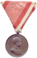 Obverse of the bronze medal for bravery (Austria-Hungary, Franz Joseph I).png