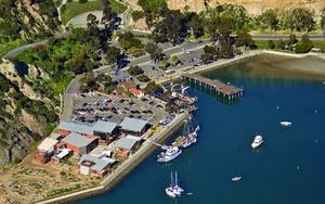 Aerial photograph of the Ocean Institute at Dana Point, California