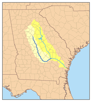Ocmulgee River - Image: Ocmulgee watershed