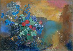Odilon Redon: Ophelia among the Flowers