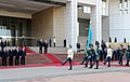 Official welcoming ceremony of Ilham Aliyev in Almaty was held 01.jpg