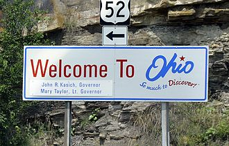 Ohio - Newer state sign, (US 52)
