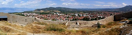 Ohrid city - view from Samuil's Fortress.JPG