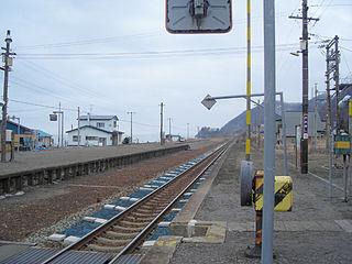 Ōkishi Station Railway station in Toyoura, Hokkaido, Japan