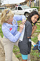 Oklahoma Gov. Mary Fallin, left, visits with area residents in tornado-damaged Moore 130528-Z-TK779-020.jpg