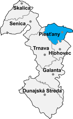 Location of Pještjanu apriņķis
