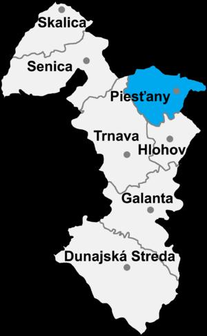 Piešťany District - Image: Okres piestany