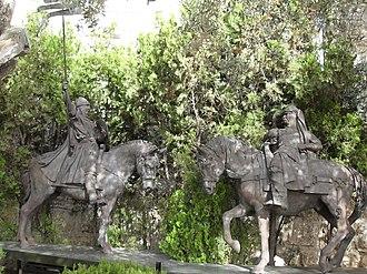 Statue of Saladin - Saladin and Richard the Lionheart equestrian statue, Old Jerusalem