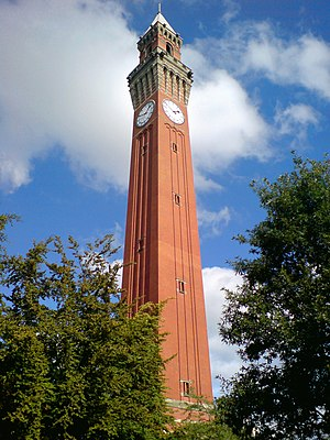 Joseph Chamberlain Memorial Clock Tower - Another image of Old Joe