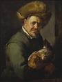 Old Man with a Hen (Hendrick Bloemaert) - Nationalmuseum - 17281.tif