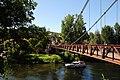 Old suspension bridge at Bouzies along the Lot river - panoramio.jpg