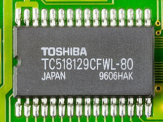 Dynamic random-access memory - 1 Mbit high speed CMOS pseudo static RAM, made by Toshiba