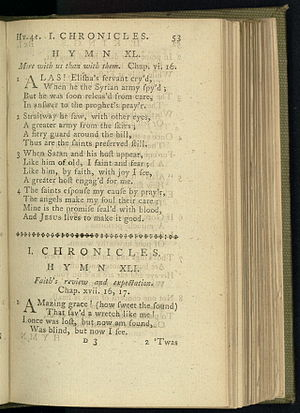 English: Page 53 in Olney Hymns, the verses th...