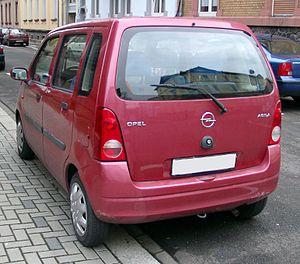 Opel Agila - Rear view