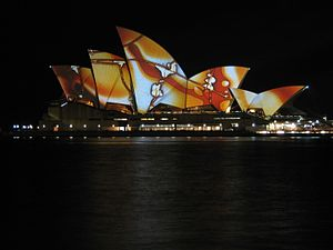 77 Million Paintings - 77 Million Paintings projected onto the Sydney Opera House in 2009
